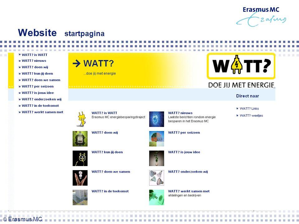 Website startpagina © Erasmus MC