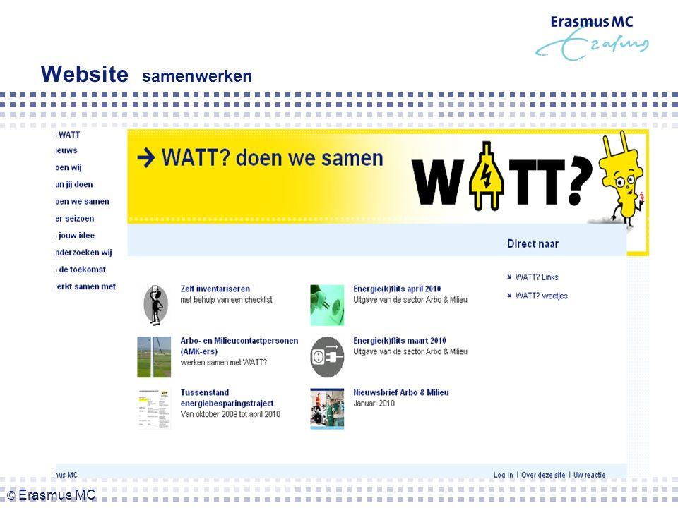Website samenwerken © Erasmus MC