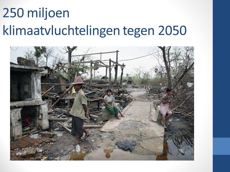 250 miljoen klimaatvluchtelingen tegen 2050