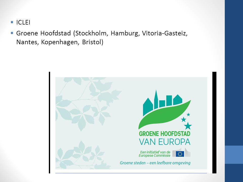 ICLEI Groene Hoofdstad (Stockholm, Hamburg, Vitoria-Gasteiz, Nantes, Kopenhagen, Bristol)