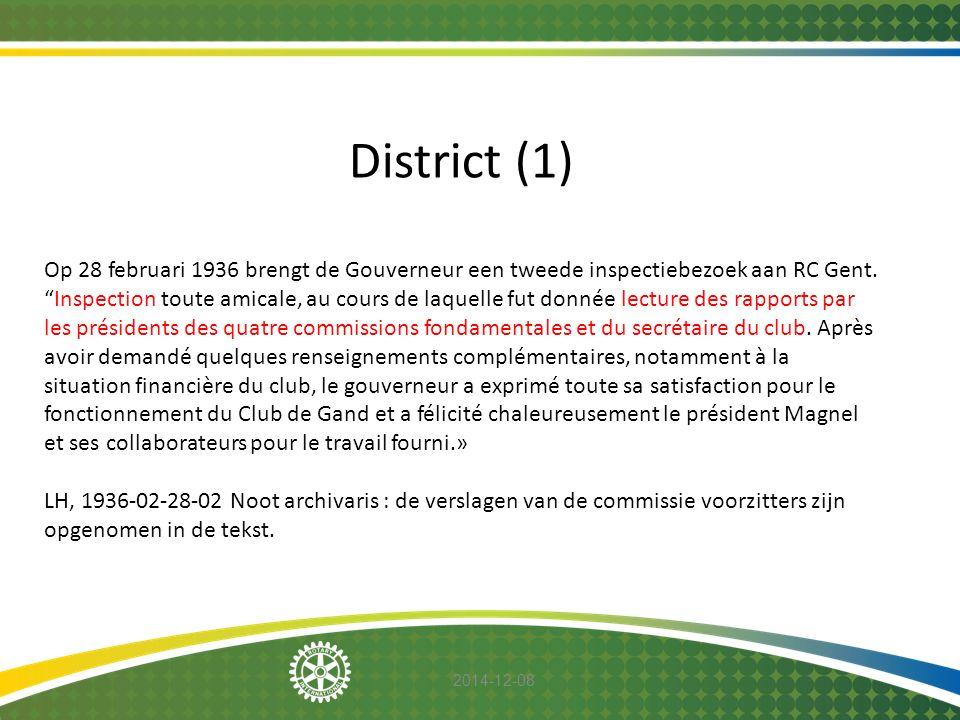 """2014-12-08 District (1) Op 28 februari 1936 brengt de Gouverneur een tweede inspectiebezoek aan RC Gent. """"Inspection toute amicale, au cours de laquel"""