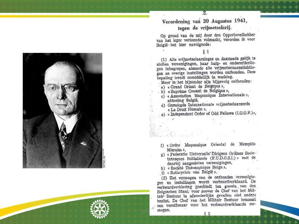 2014-12-08 26 februari 1927 – Remise de la Charte Nos amis de Gand nous avaient conviés à la cérémonie de remise de la charte, le samedi 26 février, sous la présidence de son excellent Président Louis Montigny.
