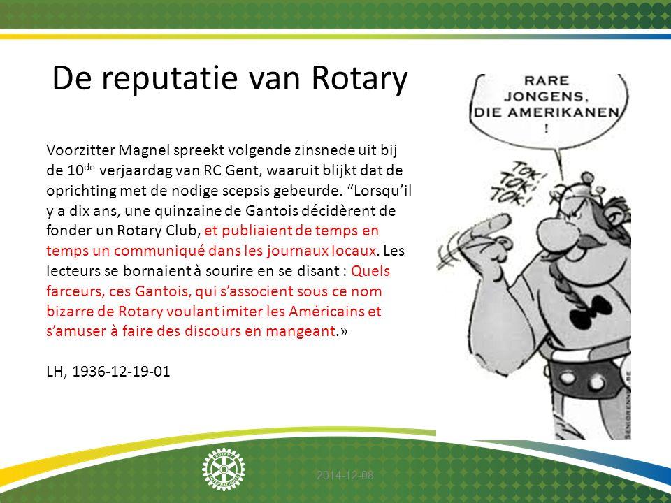 2014-12-08 Voorzitter Magnel spreekt volgende zinsnede uit bij de 10 de verjaardag van RC Gent, waaruit blijkt dat de oprichting met de nodige scepsis