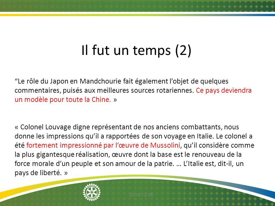 """2014-12-08 Il fut un temps (2) """"Le rôle du Japon en Mandchourie fait également l'objet de quelques commentaires, puisés aux meilleures sources rotarie"""
