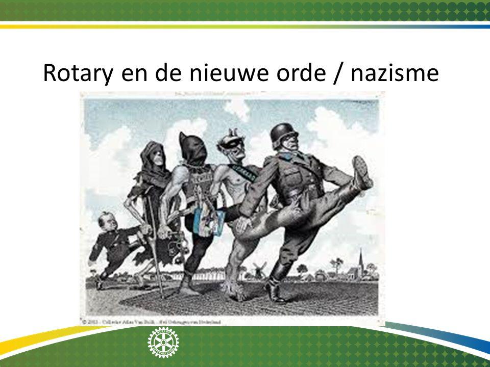 Rotary en de nieuwe orde / nazisme