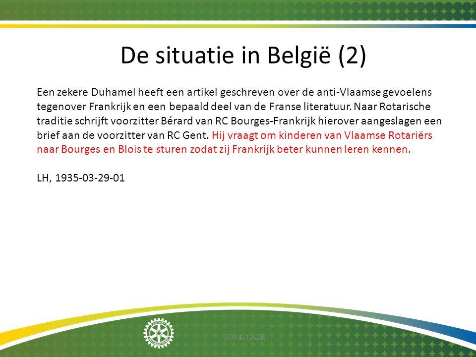 2014-12-08 De situatie in België (2) Een zekere Duhamel heeft een artikel geschreven over de anti-Vlaamse gevoelens tegenover Frankrijk en een bepaald