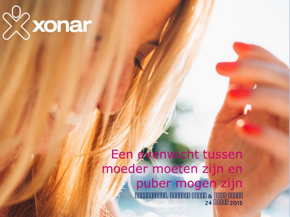 Een evenwicht tussen moeder moeten zijn en puber mogen zijn presentatie : Susanne Dreuw & Anne Wijns 24 maart 2015