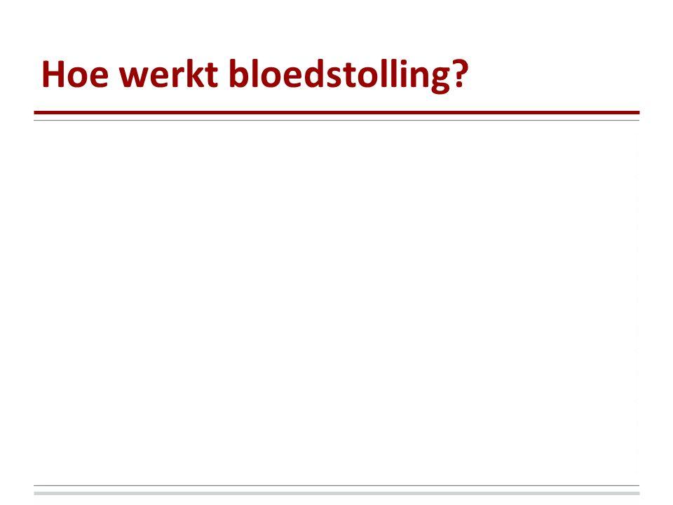 Hoe werkt bloedstolling?