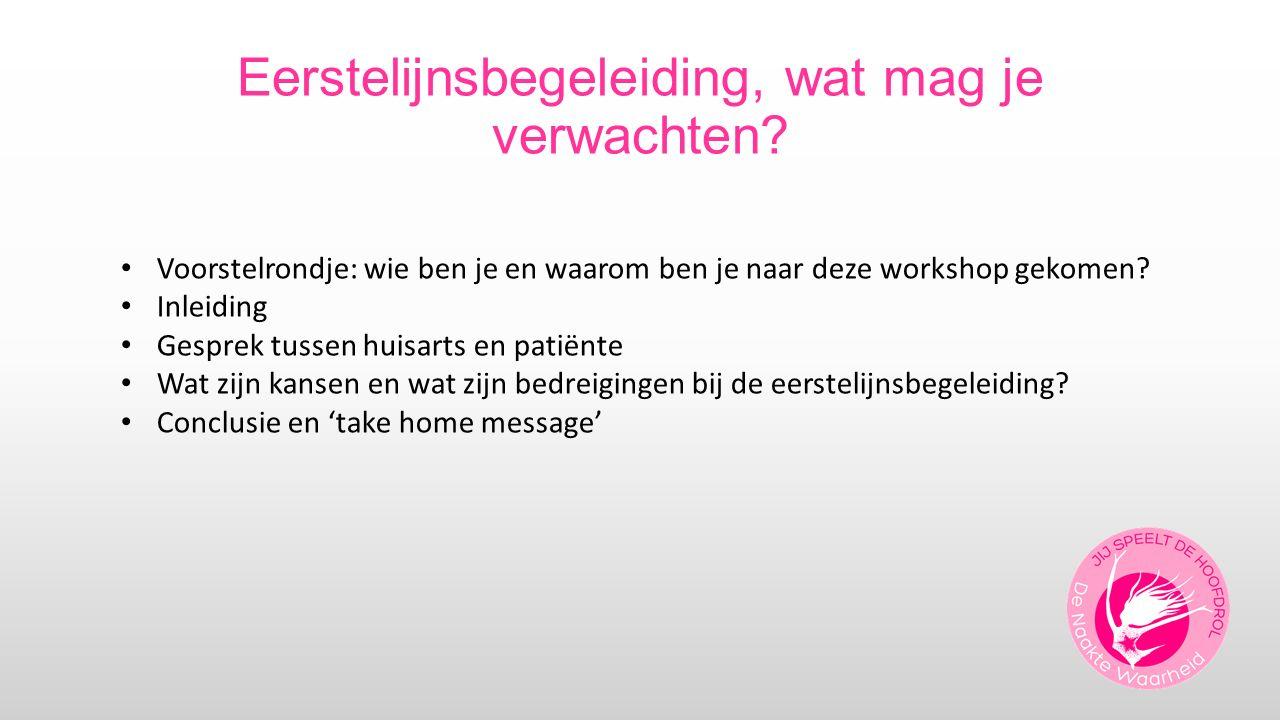 Inleiding door Carriene 1998-2013: onderzoek naar bijdrage van huisarts aan zorg voor patiënten met borstkanker (fase van behandeling + nacontrole)