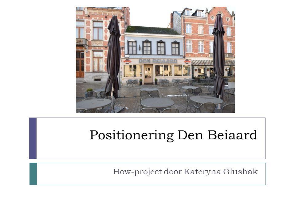 Positionering Den Beiaard How-project door Kateryna Glushak