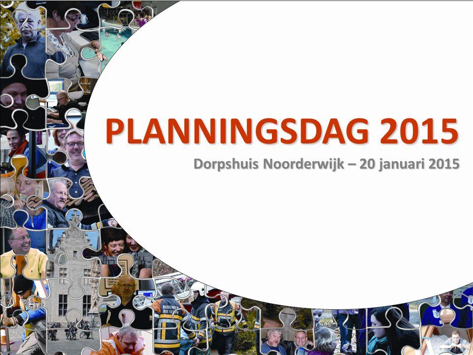 PLANNINGSDAG 2015 Dorpshuis Noorderwijk – 20 januari 2015