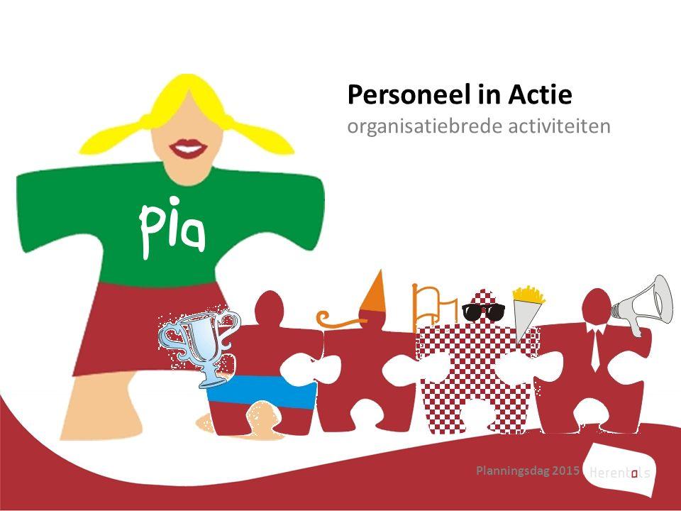 Planningsdag 2015 Pia Personeel in Actie organisatiebrede activiteiten