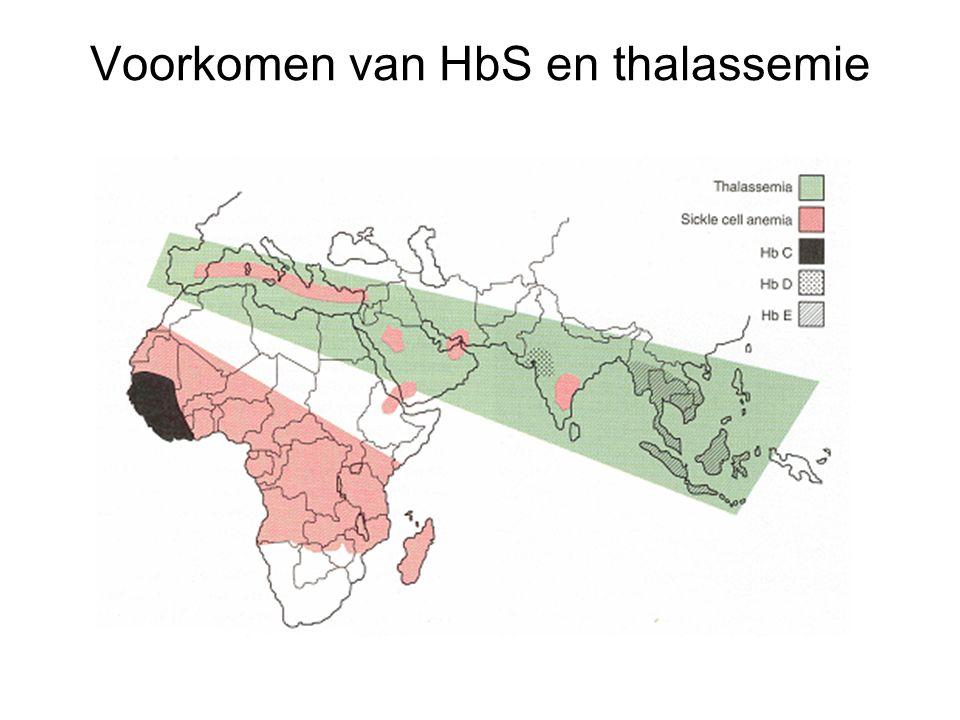 Voorkomen van HbS en thalassemie