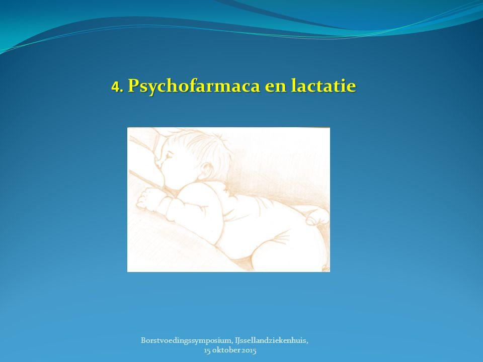 4. Psychofarmaca en lactatie Borstvoedingssymposium, IJssellandziekenhuis, 15 oktober 2015