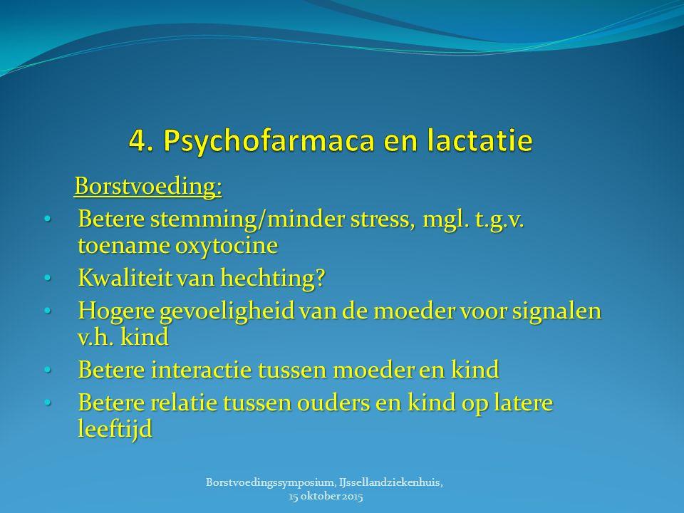 Borstvoeding: Borstvoeding: Betere stemming/minder stress, mgl.