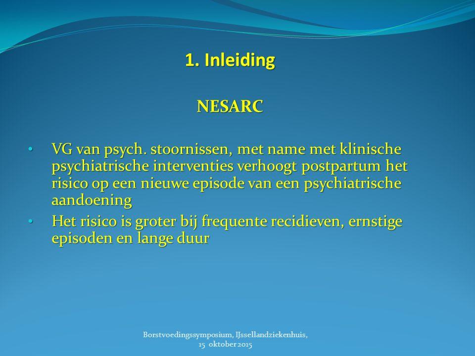 2. Psychiatrische stoornissen Borstvoedingssymposium, IJssellandziekenhuis, 15 oktober 2015