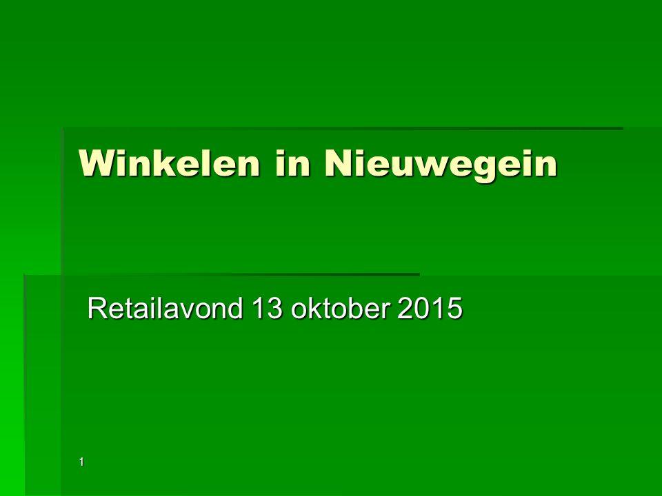 Winkelen in Nieuwegein Retailavond 13 oktober 2015 Retailavond 13 oktober 20151