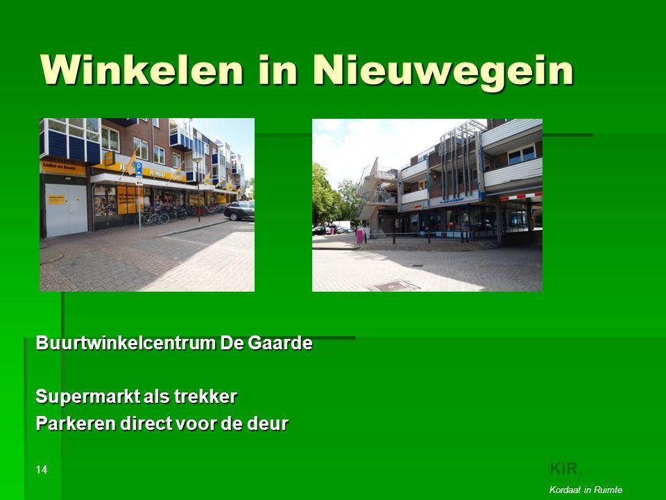 Winkelen in Nieuwegein Buurtwinkelcentrum De Gaarde Supermarkt als trekker Parkeren direct voor de deur 14 KIR, Kordaat in Ruimte