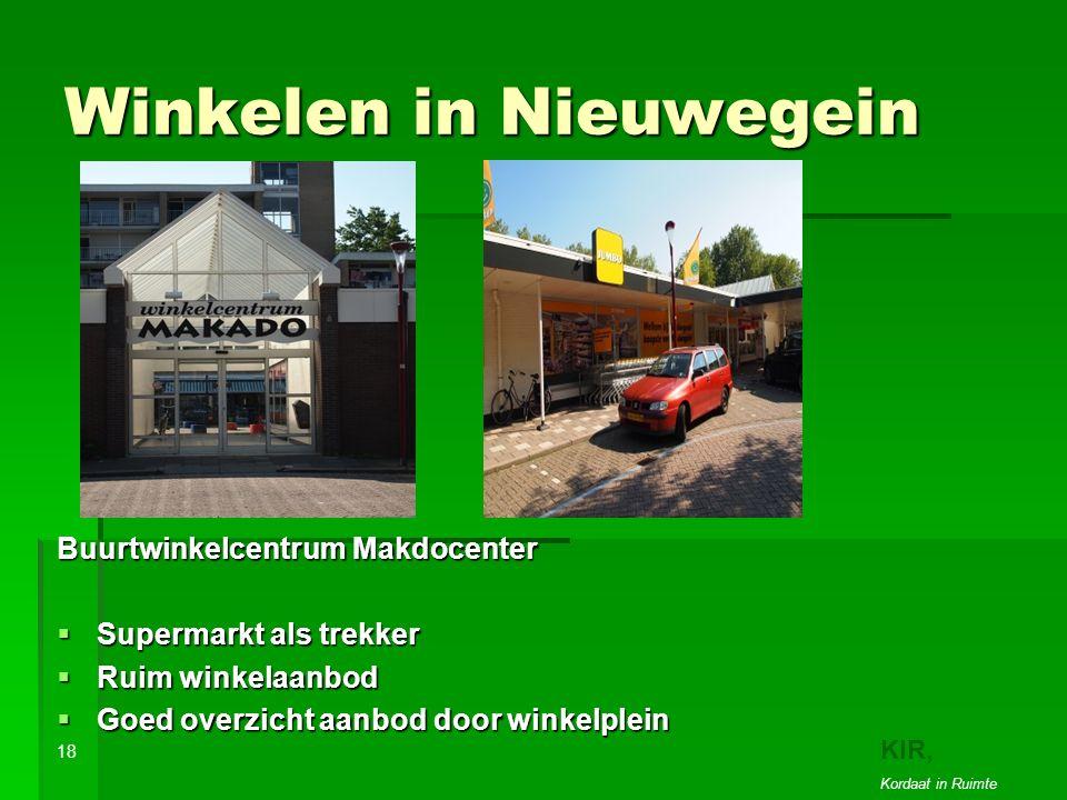 Winkelen in Nieuwegein Buurtwinkelcentrum Makdocenter  Supermarkt als trekker  Ruim winkelaanbod  Goed overzicht aanbod door winkelplein 18 KIR, Kordaat in Ruimte