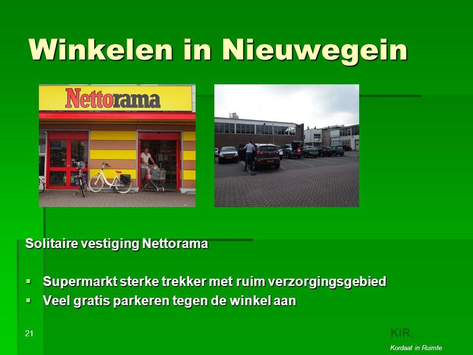 Winkelen in Nieuwegein Solitaire vestiging Nettorama  Supermarkt sterke trekker met ruim verzorgingsgebied  Veel gratis parkeren tegen de winkel aan 21 KIR, Kordaat in Ruimte