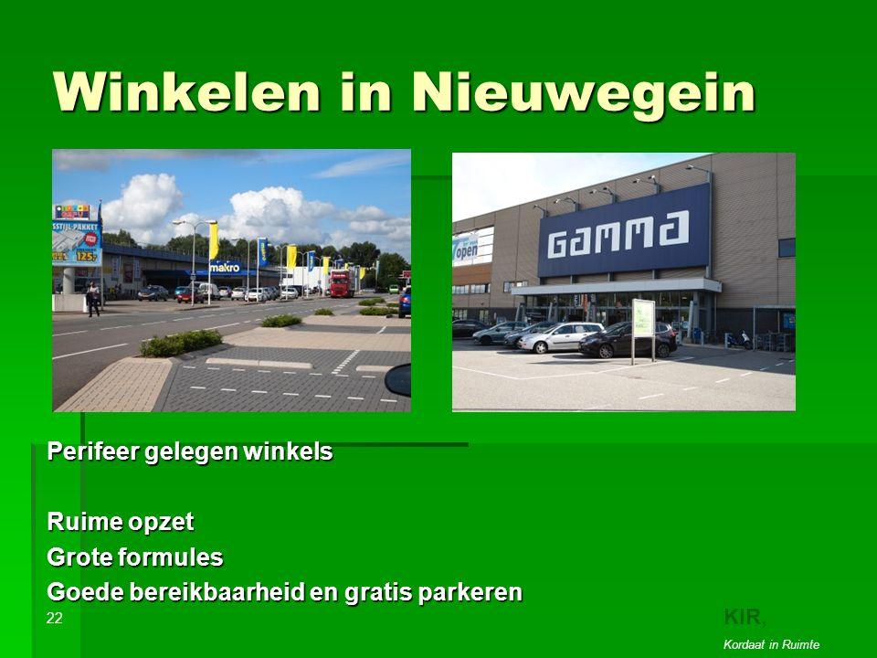 Winkelen in Nieuwegein Perifeer gelegen winkels Ruime opzet Grote formules Goede bereikbaarheid en gratis parkeren 22 KIR, Kordaat in Ruimte