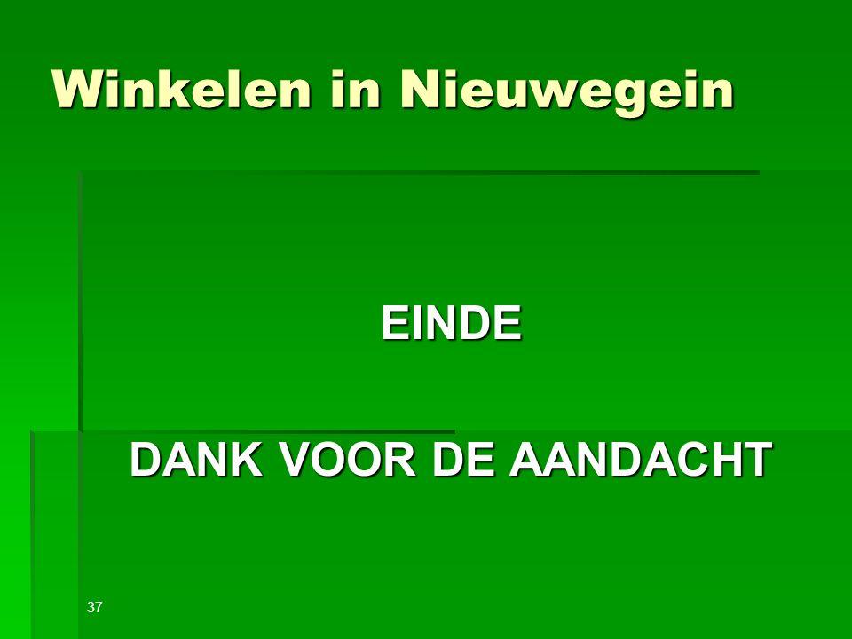 Winkelen in Nieuwegein EINDE DANK VOOR DE AANDACHT 37