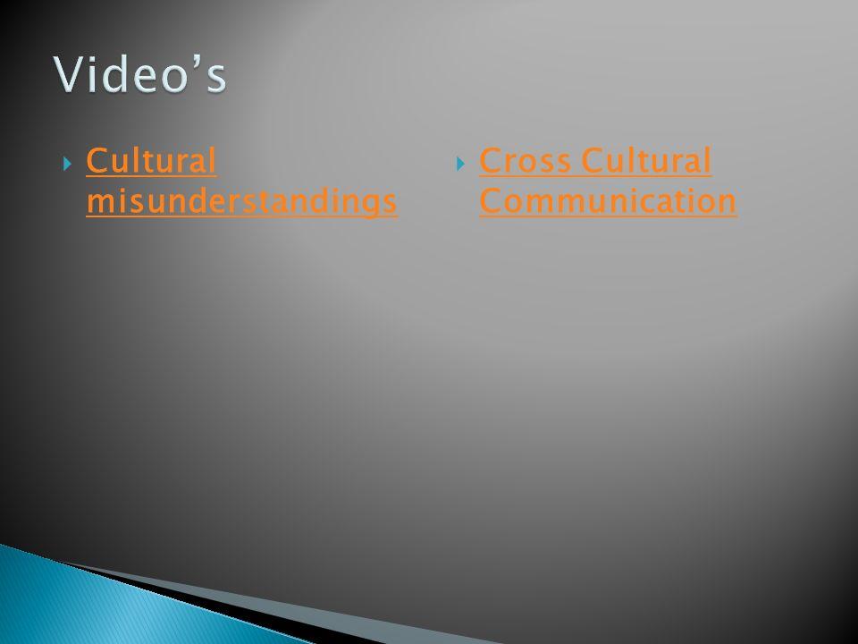  Cultural misunderstandings Cultural misunderstandings  Cross Cultural Communication Cross Cultural Communication