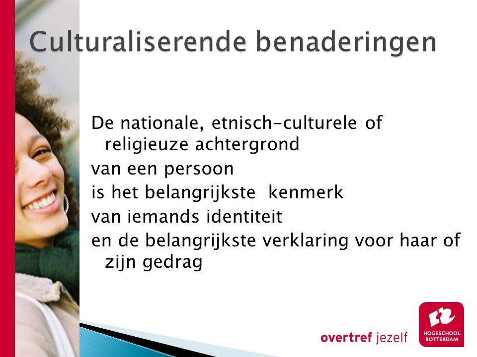 De nationale, etnisch-culturele of religieuze achtergrond van een persoon is het belangrijkste kenmerk van iemands identiteit en de belangrijkste verk