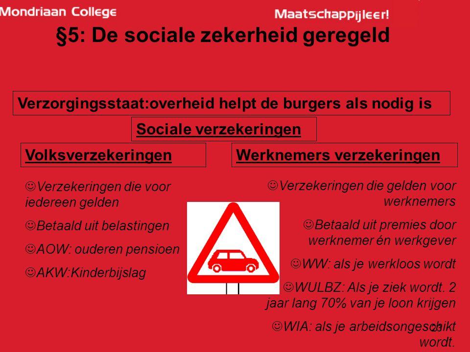 22 § 5: De sociale zekerheid geregeld