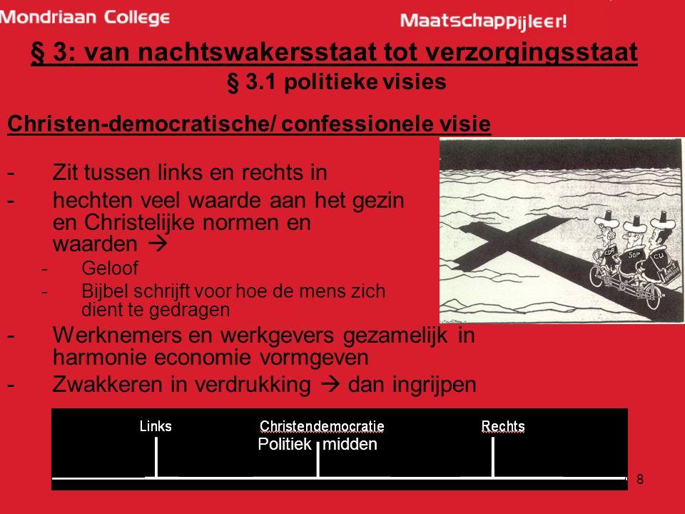 18 § 5: De sociale zekerheid geregeld § 5.1 Typen verzorgingsstaten: Sociaaldemocratische/ Scandinavischemodel: -Flexicurity: -felxibele arbeidsmarkt --> makkelijk ontslagen, makkelijke nieuwe baan, vaak wisselen -sterke sociale zekerheid --> hoge uitkeringen, goede verlofregelingen -Duur systeem: hoge collectieve lasten -Partijen in NL: Gl, SP, deel PvdA -Plaatje scandinavie enzo uitdelphi????
