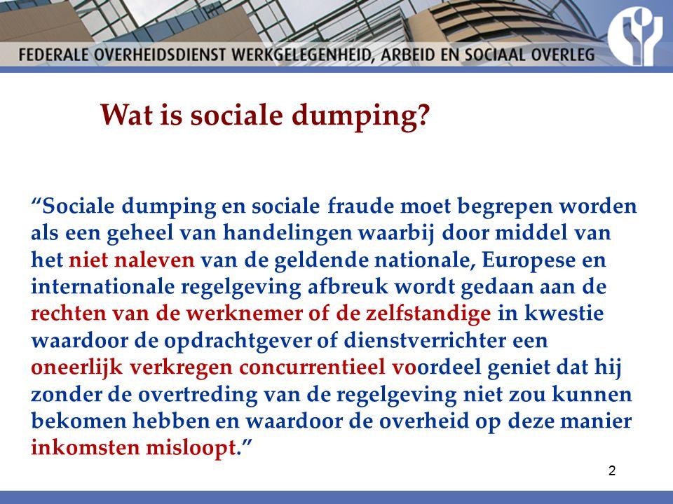 Wat is sociale dumping.