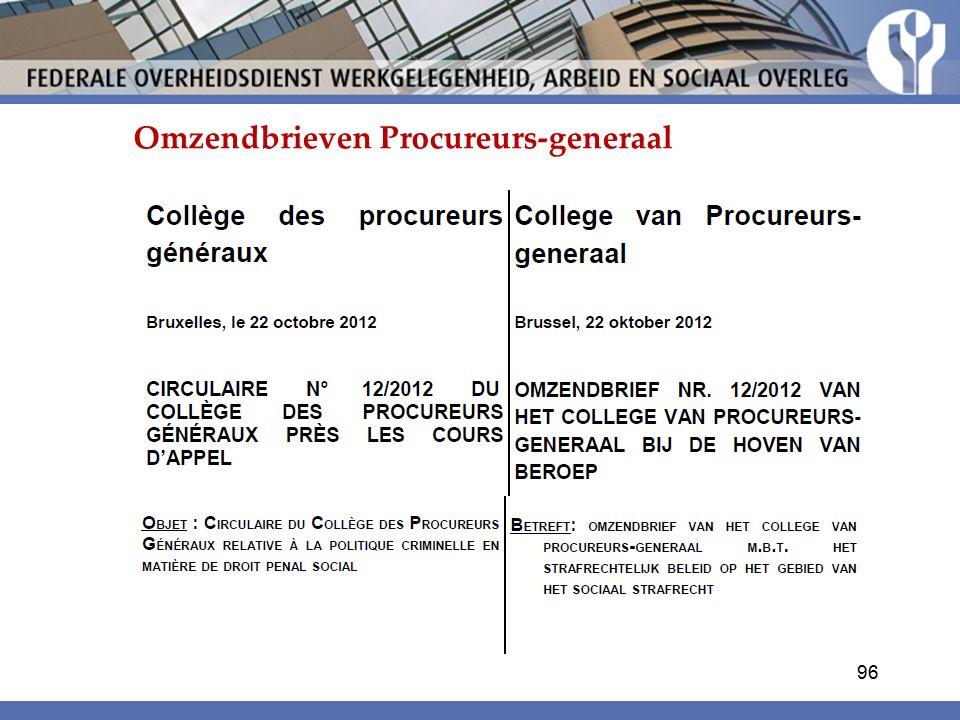 Omzendbrieven Procureurs-generaal 96