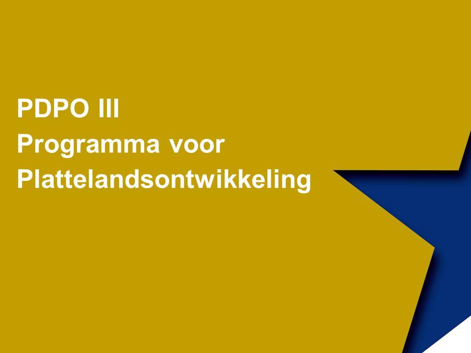 PDPO III Programma voor Plattelandsontwikkeling