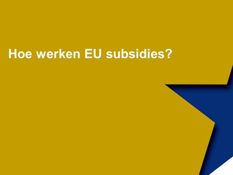 Hoe werken EU subsidies