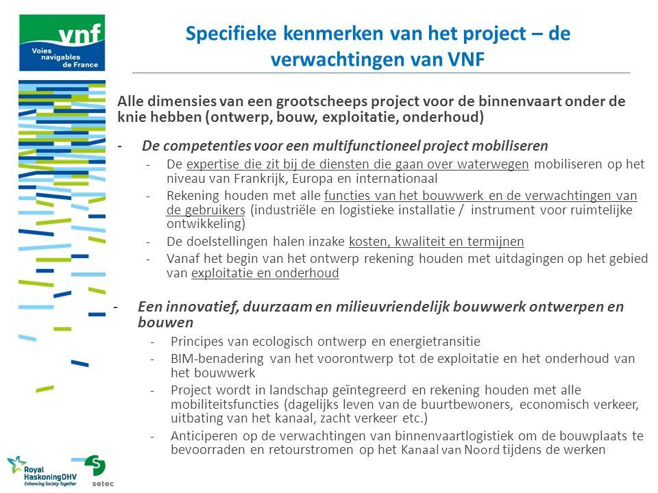 Alle dimensies van een grootscheeps project voor de binnenvaart onder de knie hebben (ontwerp, bouw, exploitatie, onderhoud) -De competenties voor een