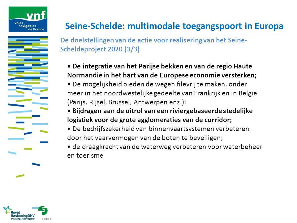 Seine-Schelde: multimodale toegangspoort in Europa De doelstellingen van de actie voor realisering van het Seine- Scheldeproject 2020 (3/3) De integra