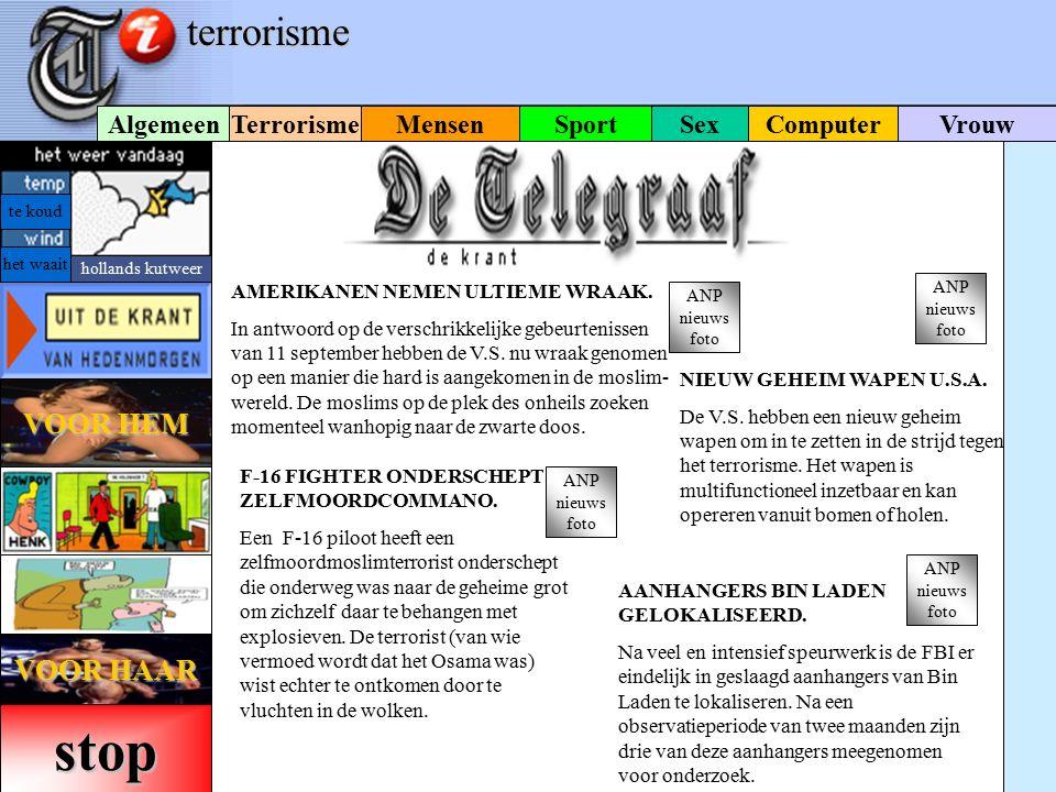 Sex m SportComputerMensenVrouwTerrorismeAlgemeenalgemeen NU OOK HORMONEN IN PLUIMVEE-INDUSTRIE.