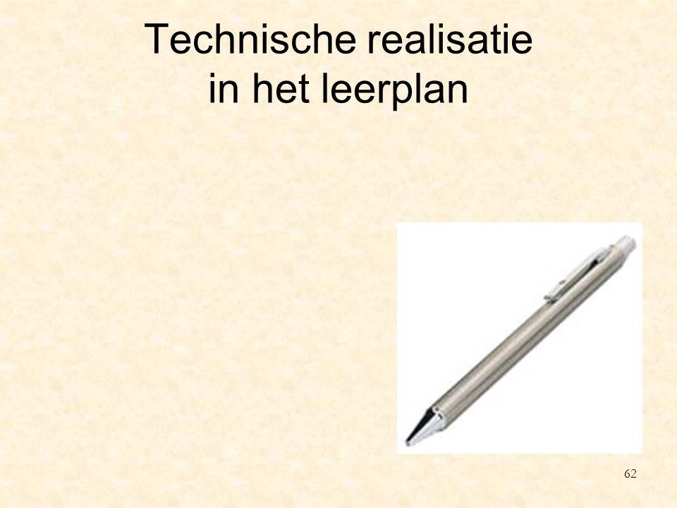 Technische realisatie in het leerplan 62