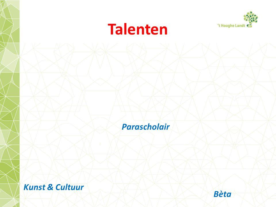 Talenten Bèta Kunst & Cultuur Parascholair