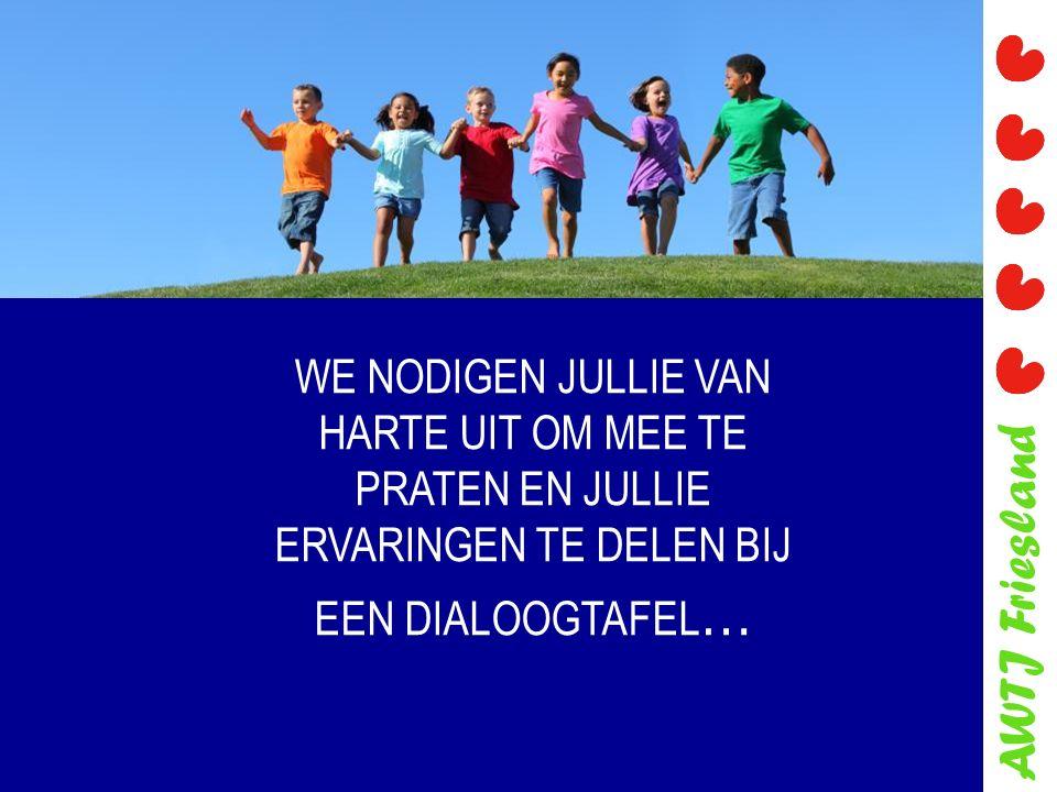 AWTJ Friesland WE NODIGEN JULLIE VAN HARTE UIT OM MEE TE PRATEN EN JULLIE ERVARINGEN TE DELEN BIJ EEN DIALOOGTAFEL …