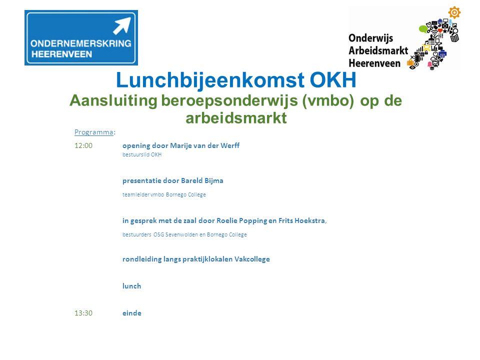 VMBO route Heerenveen Bovenschools ontwerp 2015 Vertrekpunt : Invoering Vernieuwing Beroepsgerichte Programma's (Ministerie) Analyse instroom-ontwikkeling RPO Heerenveen Op weg naar een toekomstbestendig vmbo