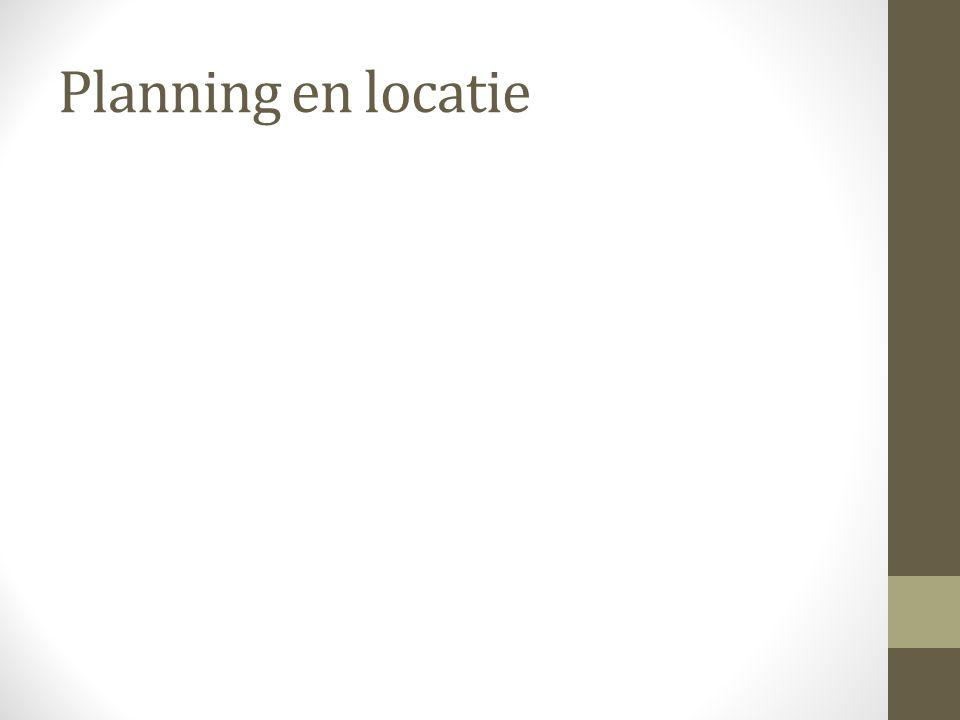 Planning en locatie