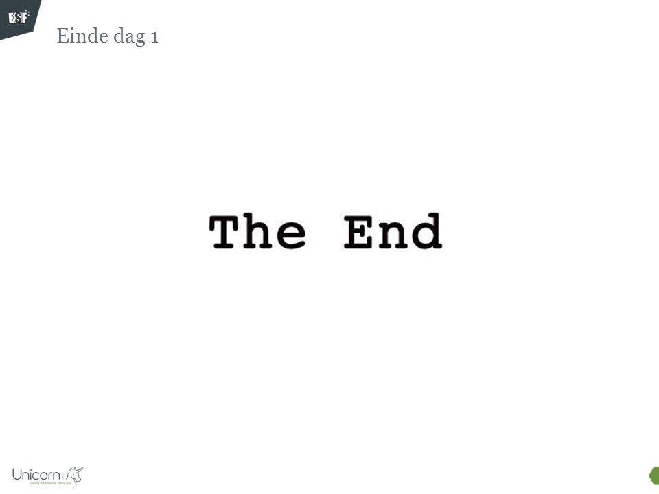 Einde dag 1