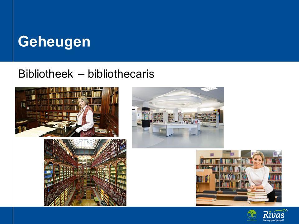 Bibliotheek – bibliothecaris Geheugen