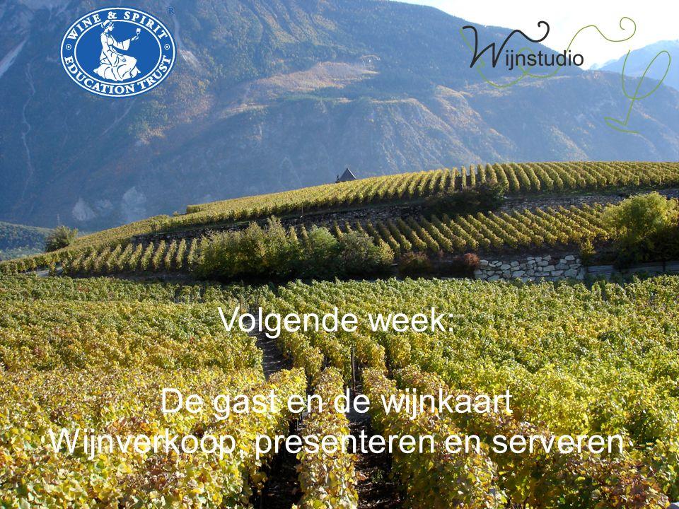 Volgende week: De gast en de wijnkaart Wijnverkoop, presenteren en serveren