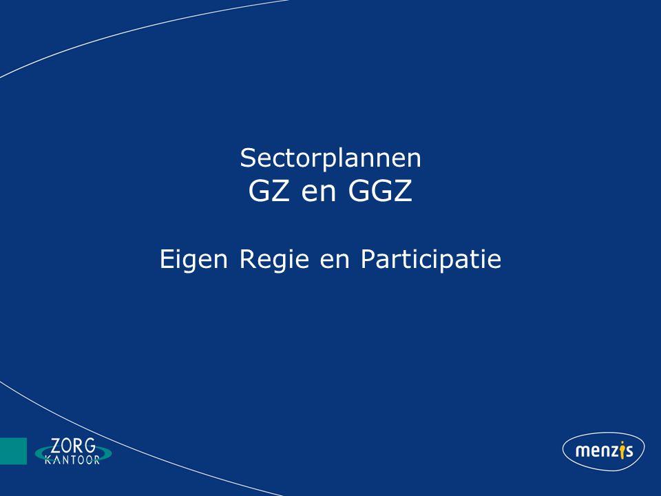 Sectorplannen GZ en GGZ Eigen Regie en Participatie