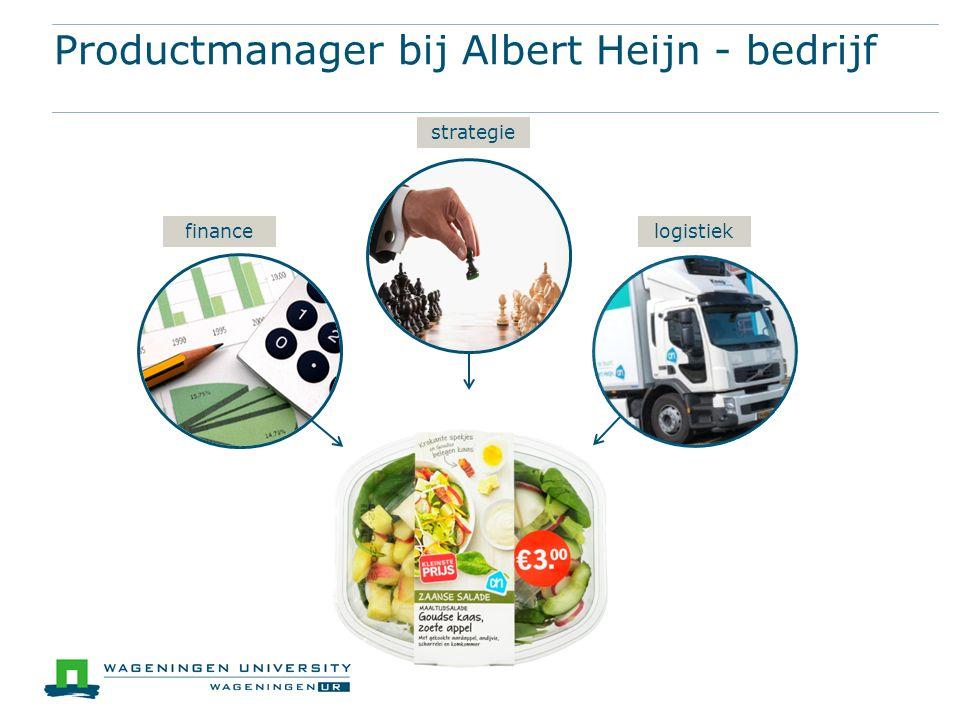Productmanager bij Albert Heijn - bedrijf finance strategie logistiek