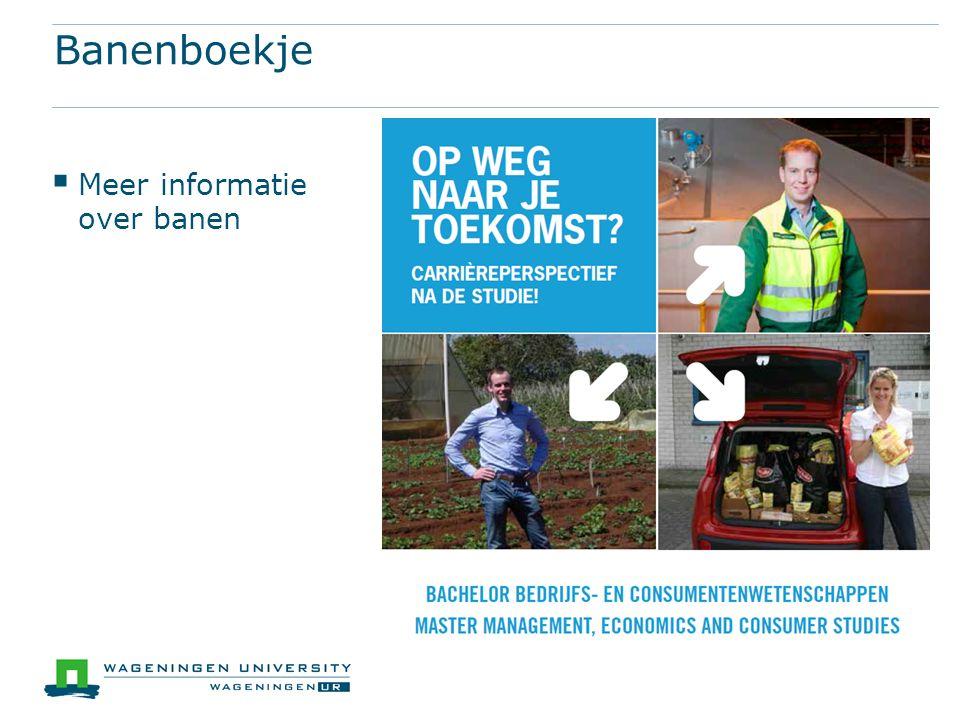 Banenboekje  Meer informatie over banen