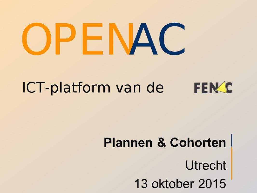 Plannen & Cohorten Utrecht 13 oktober 2015
