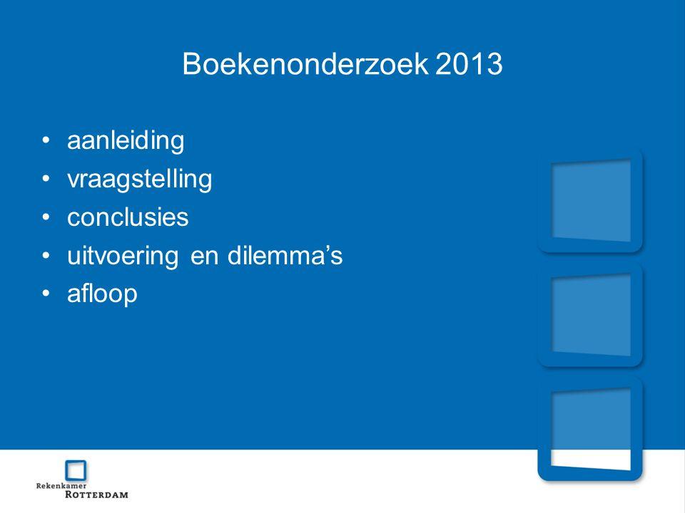 Boekenonderzoek 2013 aanleiding vraagstelling conclusies uitvoering en dilemma's afloop